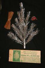 Vintage Famous Keystone Corp Aluminum Christmas Tree 2' Wall Hanging Door Tree