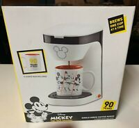 New Mickey Mouse- Disney 90 Years - Single Serve Coffee Maker And Mug Collectors