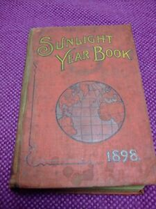 """Antique """"Sunlight Year Book"""" 1898. Lever Brothers. Port Sunlight."""