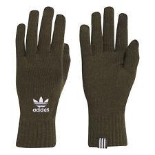 adidas Originals Mens Knitted Winter Smartphone Gloves Khaki