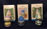 Lot Of 3 Hallmark Easter Egg Surprise Ornaments 1999 2000 2001 Vintage