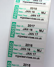 Roll 500 PERSONALISED MINI PAT Test / Testing Labels PASSED Non Rip 40 x 24mm
