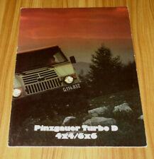 Catalogue PINZGAUER Turbo D 4x4 / 6x6 de 1988