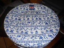 """New Cobalt Blue Churchill 10.25"""" Plate Floral and Hearts Made in  England"""