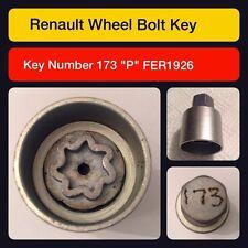"Genuine Renault Locking Wheel Nut / Key 173 ""P"""