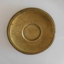 Assiette miniature fait main métal laiton vintage XXe Afrique Maghreb