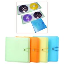 12 Sleeves Carry CD DVD Disc Wallet Candy Color Holder Case Storage Cover Bag