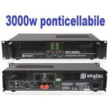 AMPLIFICATORE FINALE DI POTENZA 3000w SKY-3000 MK2 PA PROFESSIONALE BRIDGE/MONO