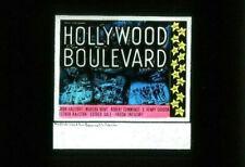 HOLLYWOOD BOULEVARD - Vintage 1936 ROBERT FLOREY Film - Rare Movie Glass Slide