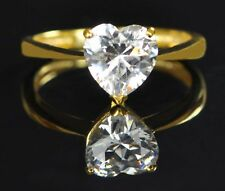 2,55 Carat 585er Solide Echt Gelb gold Herz Form Solitär Hochzeits Ring