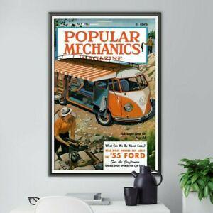 "1955 Volkswagen Popular Mechanics POSTER! (up to 24"" x 36"") - Camp Car - Travel"
