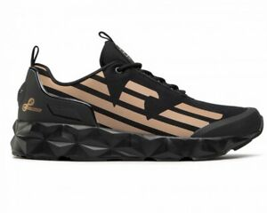 Emporio Armani X8X033 XCC52 C2 Mens Trainers Black EA7 Shoes Sneakers