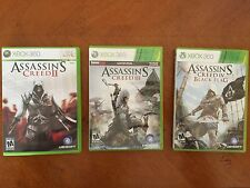 Lot of 3 Assassins Creed XBOX 360 Video Games (Ubisoft II, III & Black Flag)