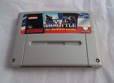 Super Nintendo SNES Console - Full Throttle All American Racing