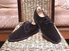 NoSalvatore Ferragamo Mens Dark Brown Suede Oxford Shoes Size 11 D (US)