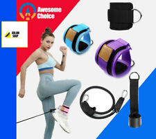 Resistancex Bands with Ankle Straps Cuff with Cable for Attachment Booty Butt Th