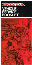 HONDA MOTORCYCLES ORIGINAL LATE '70s SERVICE RECORD BOOKLET (NEW OLD STOCK)