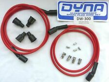 Dyna Spark Plug Wire Kit DW300 7mm Red Silicone Copper Core Dyna DW 300 Dynatek