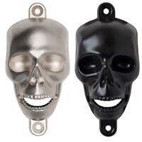 2Pcs Cast Iron Wall Mounted Skull Bottle Opener Kitchen Pub Bar Beer Opener