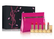 YVES SAINT LAURENT YSL 5pc Mini Rouge Pur Couture Lipstick Set Gift ~NIB~