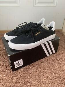 Adidas 3Mc Vulc Mens Black Canvas Casual Lace Up Low Top Sneakers NEW
