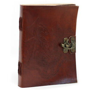 Leather Notebook, Dragon Design
