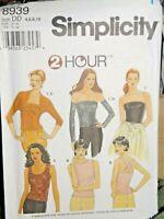 Uncut Simplicity 8939 2 Hour Top Gauntlets Jacket Misses 4-6-8-10