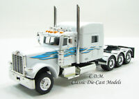 Peterbilt 389 Tri-Axle Tractor w/Sleeper White/Blue HO 1/87 Scale Promotex 6551