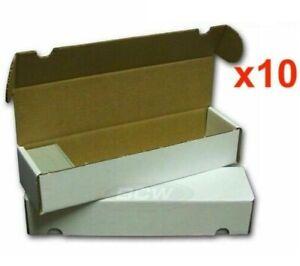 10 x 800 Count Cardboard Trading Card Storage Box MTG Yugioh Pokemon 800ct