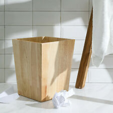 Bathroom Accessory Wooden Cleaning Decorative Wastebasket/Trash Can(Rubber wood)