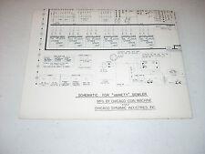 Chicago Coin Bowler CITATION 1969 Schematic Original full wiring diagram.
