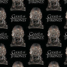 HBO Game of Thrones The Iron Throne 100% Cotton Fabric by the yard