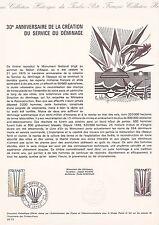 Document Philatélique Timbre 1er Jour : 11/10/ 1975 - Service de Déminage
