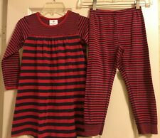 Hanna Andersson Outfit Dress And Pants Striped Girls Size 110  5