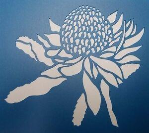 Scrapbooking - STENCILS TEMPLATES MASKS SHEET - Waratah Stencil