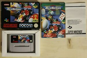 Micro Machines EUR sgZ/VGC/TBE OVP/CIB boxed Super Nintendo SNES