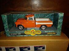 Ertl 1:18 American Muscle 1957 Chevrolet Cameo in Orange (Open Box) Nm