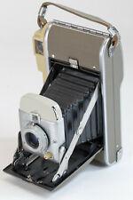 VTG 1957 Polaroid Highlander 80A Folding Camera Untested with Leather Case