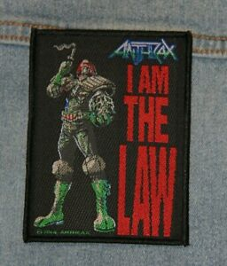 Anthrax Judge Dredd I am the law sew  on patch retro Official merchandise metal