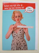 Drôle de dames Carte d'anniversaire BARBARA James Rude humoristique femelle de six pouces