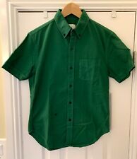 NWOT BAND OF OUTSIDERS short sleeve button up shirt OCBD forest green M SLIM
