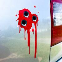 Einschusslöcher Aufkleber Blut verlauf Sticker Set Autoaufkleber Punisher  d154