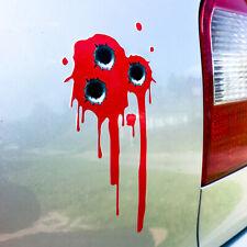 Einschusslöcher Aufkleber Blut verlauf Sticker Set Autoaufkleber Punisher  d139