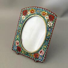 New ListingAntique Vtg Italian Handmade Glass Micro Mosaic Flower Miniature Picture Frame