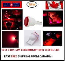 10PC COB RED 6000k LED T10 194 158 168 91 Map Dome License Plate Light Bulb