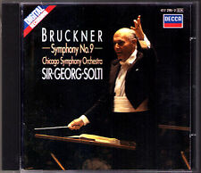 Sir Georg SOLTI: BRUCKNER Symphony No.9 DECCA CD 1986 Chicago Orchestra Sinfonie