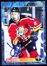 Joe Cirella Florida Panthers 1993-94 Score Signed Card
