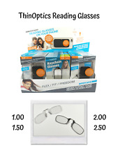 ThinOptics Reading Glasses Pince Nez Armless Light Frame Magnifying 1 1.5 2 2.5