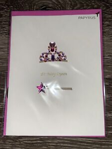 """Papyrus Birthday Card - """"Birthday Queen"""" Jeweled Crown"""