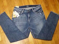 Silver Suki Super Skinny Jeans Size 14 L 29 Mid Rise Medium Mild Destressing NWT